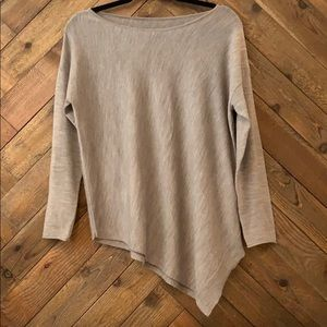 Alice + Olivia Wool Cashmere Asymmetrical Sweater